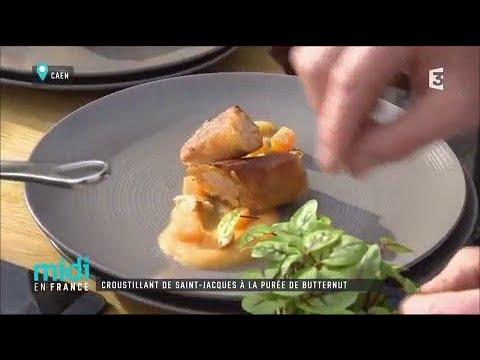croustillant-de-saint-jacques-à-la-purée-de-butternut