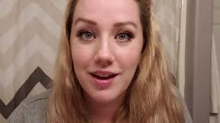 Trying on Ardell 120 natural false eyelashes