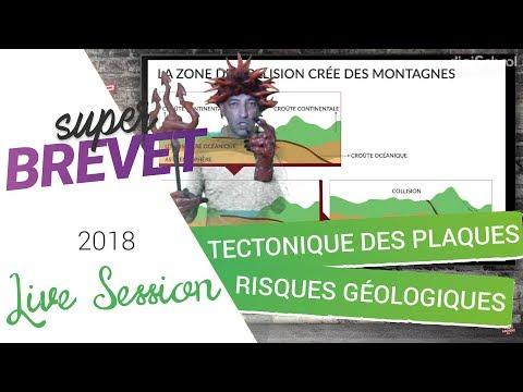Brevet 2018 - Révisions de SVT : Tectonique des plaques, risques géologiques