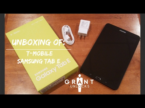 Unboxing T-Mobile Samsung Galaxy Tab E