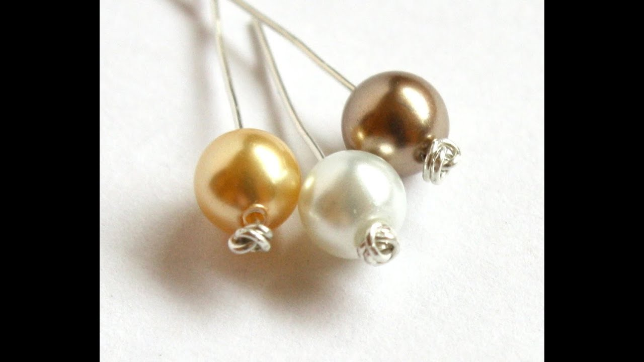How to Make Knotted Headpins in Less than 3 Minutes - YouTube