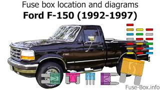 Fuse box location and diagrams: Ford F-Series (1992-1997) - YouTube | 1990 Ford F 250 5 0 Fuse Diagram |  | YouTube
