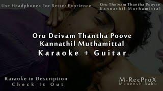 Oru Deivam Thantha (Kannathil Muthamittal)Karaoke + Guitar