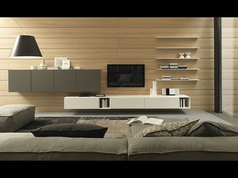 Modern TV Unit LCD Panel Design Collection Plan N Design - Bedroom design with lcd tv