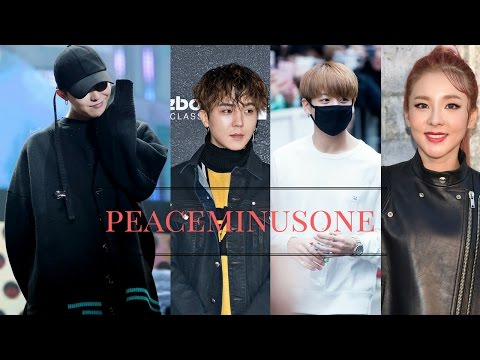 Korean Idols/Artist wearing PEACEMINUSONE
