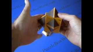 The Cube & Octagon Japanese Puzzle Box By Akio Kamei - Not A Spoiler!