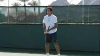 Juan Martin Del Potro Backhands in Slow Motion