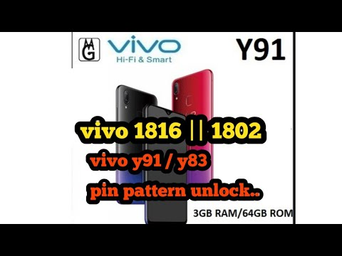 Vivo 1816 y91 || y83 1802 || pattern pin unlock by mrt