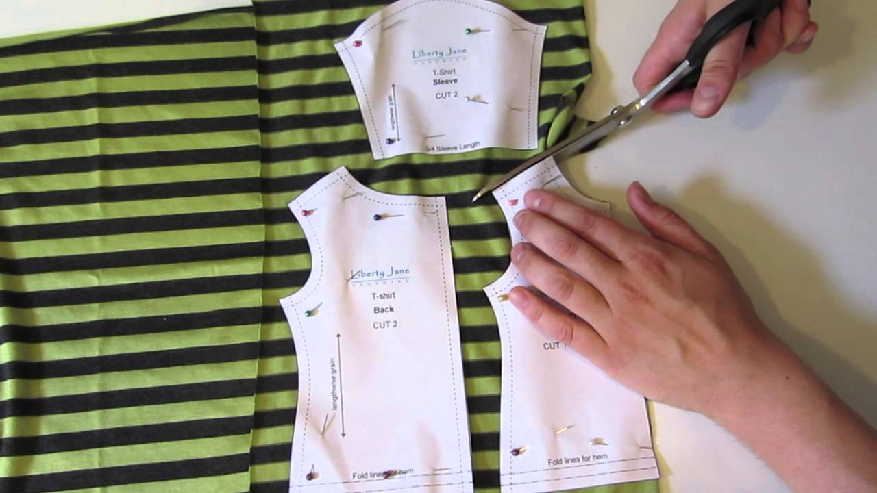 How To Cut Out The T-Shirt Pattern - With Melinda from Liberty Jane ...