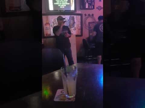 Karaoke Night Whiskey Barrel...My Friend Marc 😊