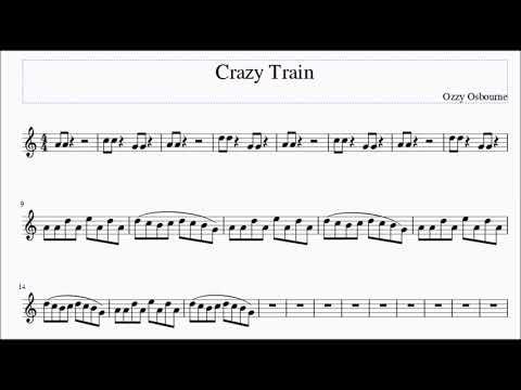 Crazy Train for AltoBari Sax Sheet Music