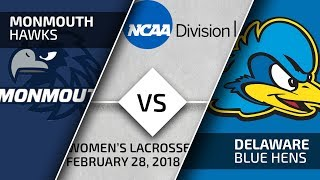 Blue Hens Playback - Women\'s Lacrosse vs. Monmonth (2/28/2018)