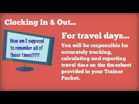 Largo Clock In & Out/Payroll: NRO Trainer Travel Day Guidelines