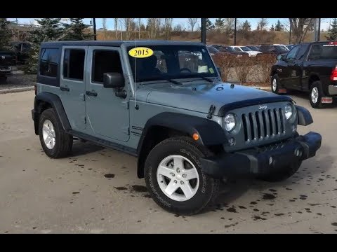 2015 Jeep Wrangler Unlimited Sport | Anvil Color | Edmonton AB | 184W4644B | Crosstown DCJR