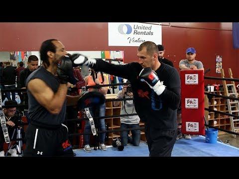 Ward vs. Kovalev 2 - Sergey Kovalev's FULL Media Workout for Andre Ward -BODY WORK FOCUS!