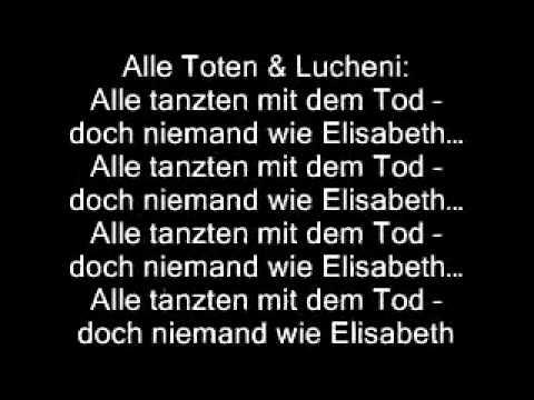 Alle Tanzten Mit Dem Tod- Elisabeth Das Musical (lyrics)