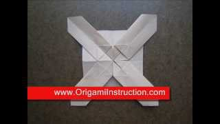 How To Fold Origami Cross Pattern - Origamiinstruction.com