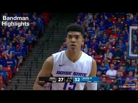 Chandler Hutchison Boise State vs San Diego State1.13.18 Highlights 44pts 8reb
