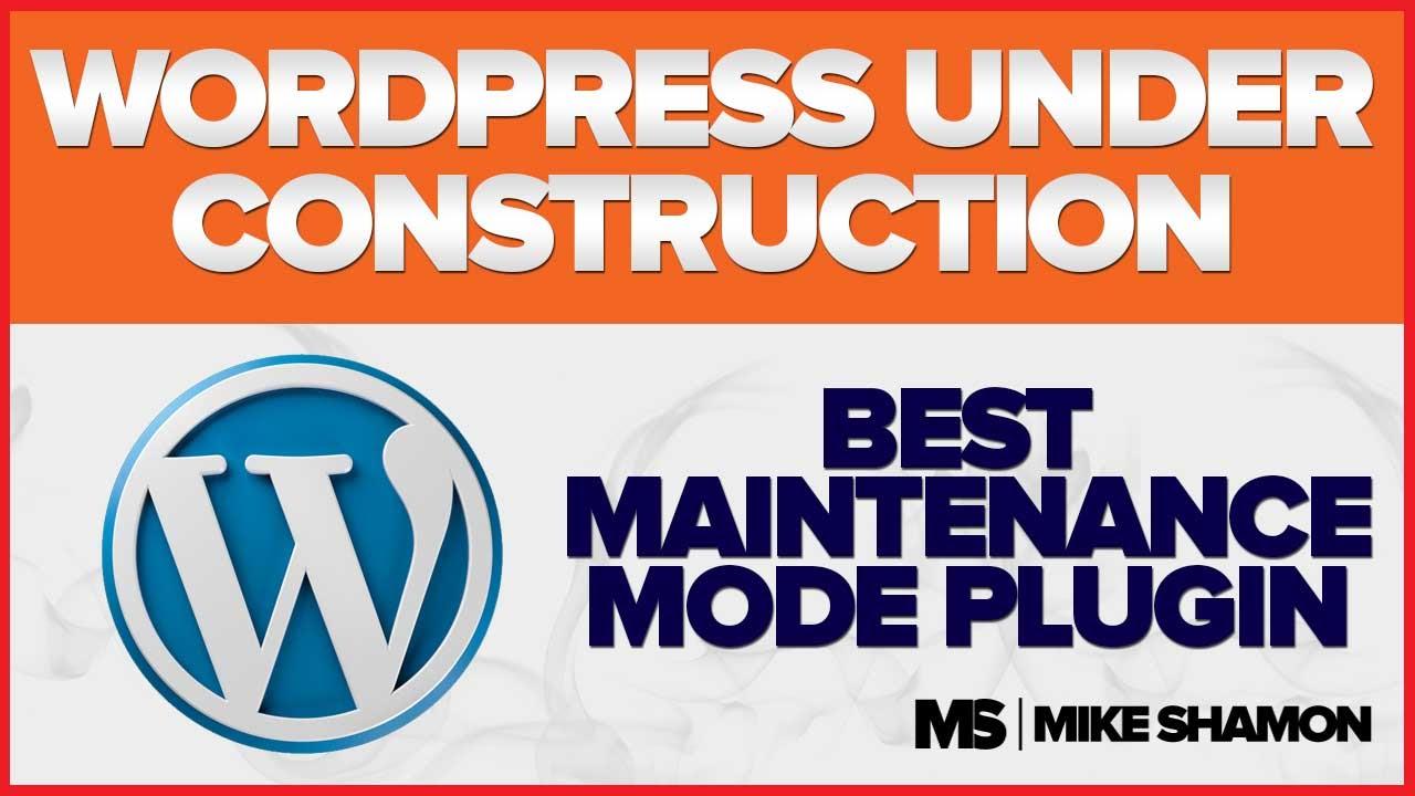 Best WordPress Under Construction Plugin - YouTube