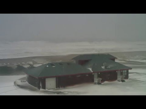Blizzard Footage: Record-Breaking Snow Storm from Monmouth Beach Surf Cam