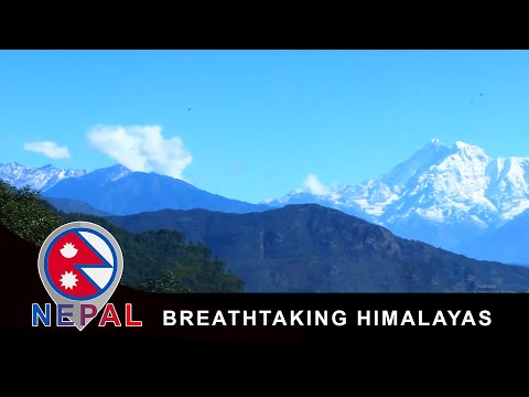 Breathtaking Himalayas Mountain Range (Gauri Sankar) from my 5$ Hotel in Nepal