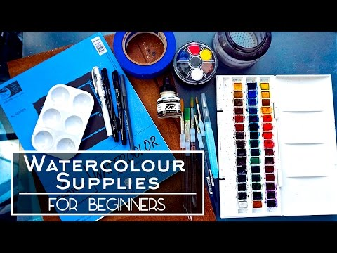 Watercolour Supplies For Beginners