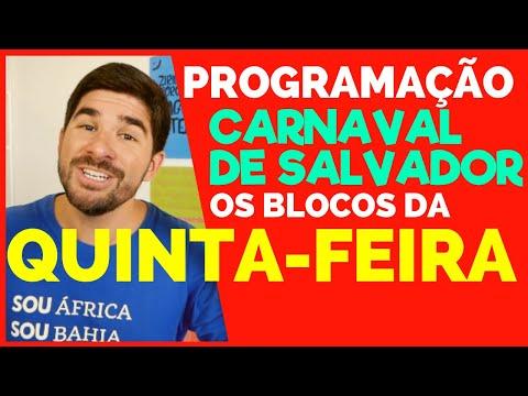 QUINTA no CARNAVAL DE SALVADOR   Programação Oficial Carnaval de Salvador