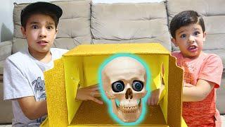 Caixa Surpresa Misteriosa com Rafael 😲 Mysterious surprise box challenge with Rafael and João Pedro
