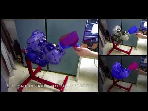 Real-Time Object Pose Estimation with Pose Interpreter Networks