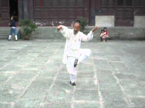 Old Master performing in Wudang