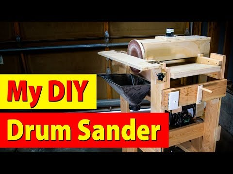 My Homemade DIY Woodworking Drum And Disk Sander