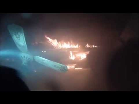 Helmet cam: 2-alarm apartment fire in Texas