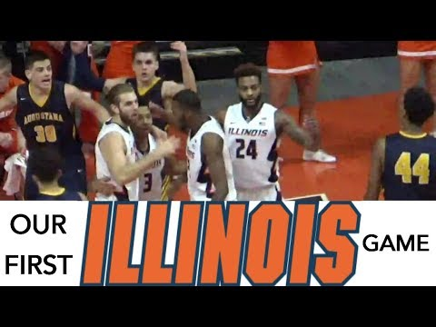 Our First Fighting Illini Basketball Game At The State Farm Center U of I Champaign vs Augustana  UI