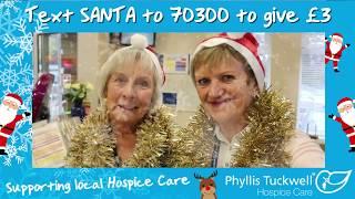 Phyllis Tuckwell's Santa Selfie - Volunteer Receptionists