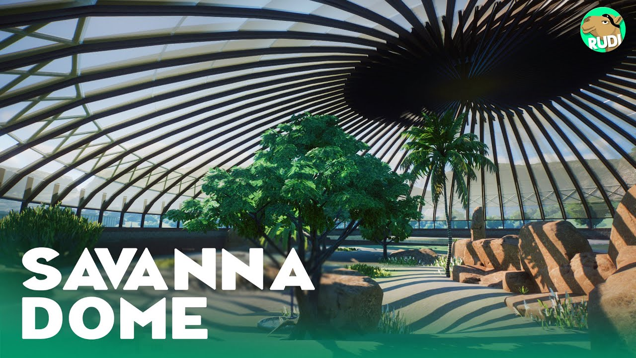 Savanna Dome Habitat - Planet Zoo Lets Play Franchise Mode