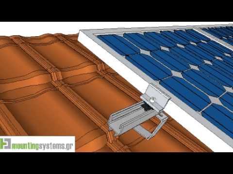 How to install solar panel rails to tile roofs -