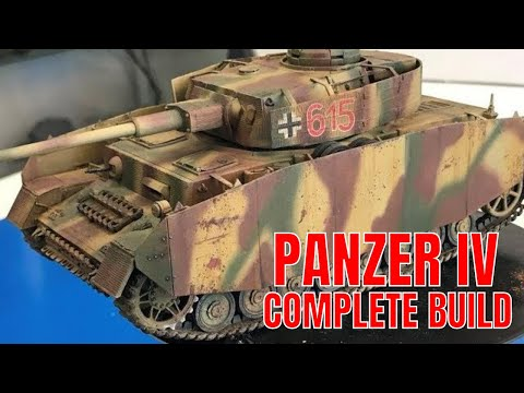 Building the New Academy Models 1/35 Panzer IV ausf H with decal zimmerit