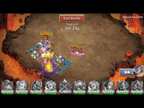 Castle Clash: INFERNAL SUMMIT2  2-MANNED!