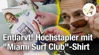"""Entlarvt: Hochstapler mit """"Miami Surf Club""""-Shirt war nie in Miami surfen!"""