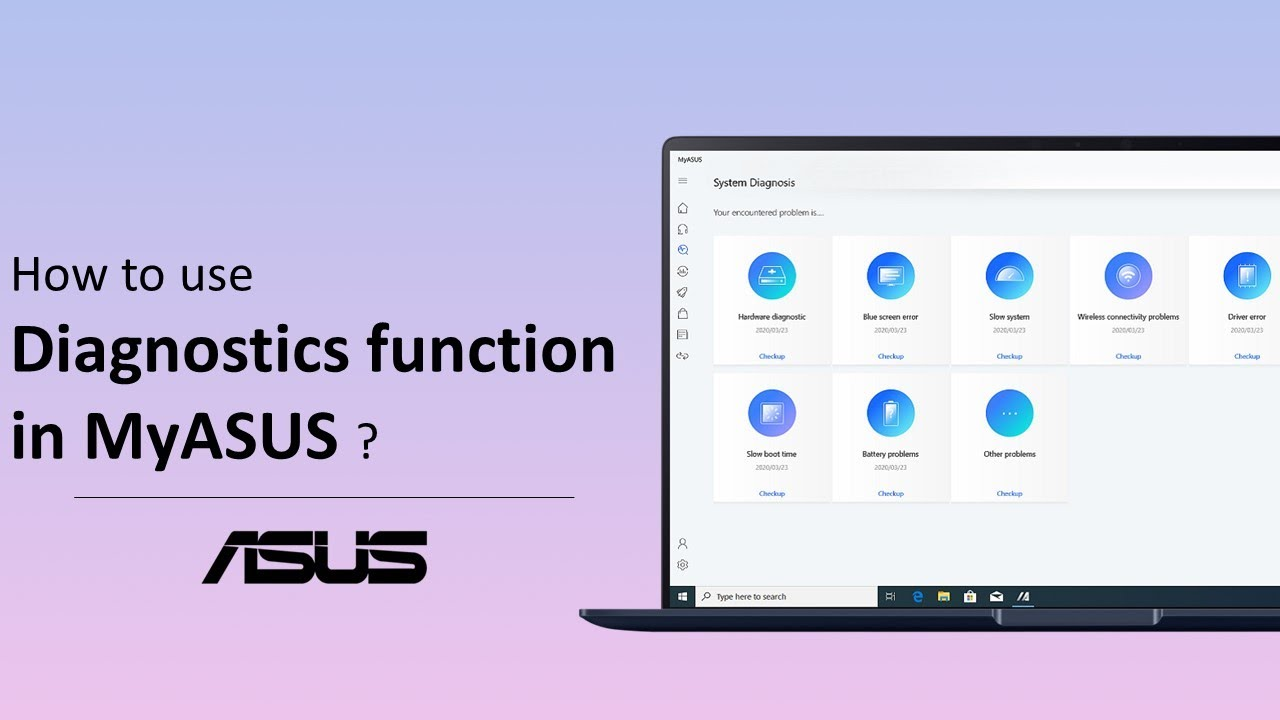 How to use the Diagnostics function in MyASUS ?