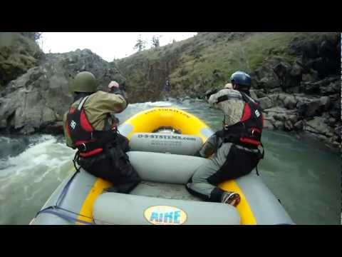 Extreme Rafting 70 Foot Waterfall - Mosier Falls, Oregon
