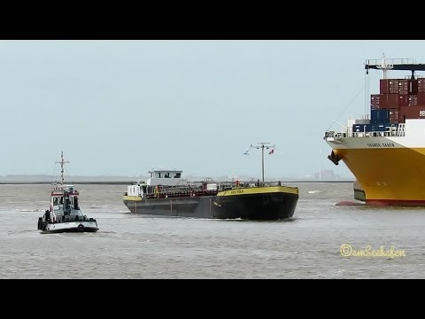 Emden Port ship traffic tugs car carrier river barge lighthouse vessel Emder Hafen