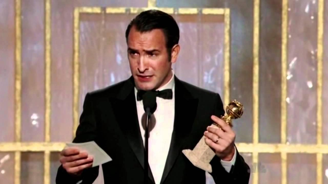 Jean dujardin wins golden globe for the artist doovi for Jean dujardin oscar