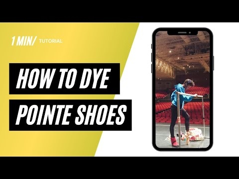 Ingrid Silva, how to dye your brown pointe shoes?