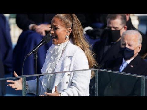 Jennifer Lopez Sings at Biden Inauguration