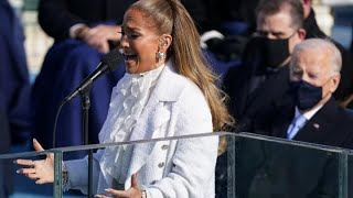 Jennifer Lopez performs at Joe Biden's inauguration