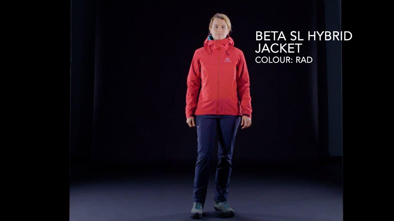 9b4ef415d0 Arc teryx - Women s Beta SL Hybrid Jacket - Rad - YouTube