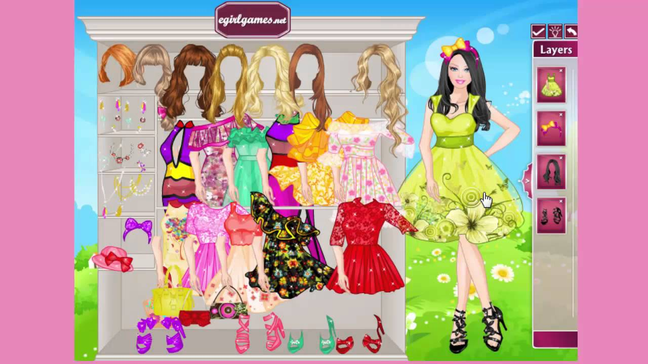 Barbie Games Barbie Doll Dress Up Game Youtube