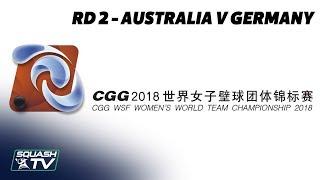 WSF Women's World Team Champs 2018 - Australia v Germany - Round 2