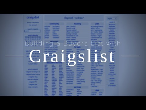 How to Build a Buyers List with Free Craigslist Ads